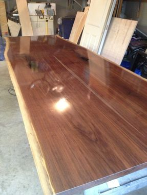 Custom Made Natural Walnut Slab Conference Table