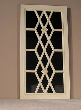 Custom Made Painted Wood Lattice Grille Door
