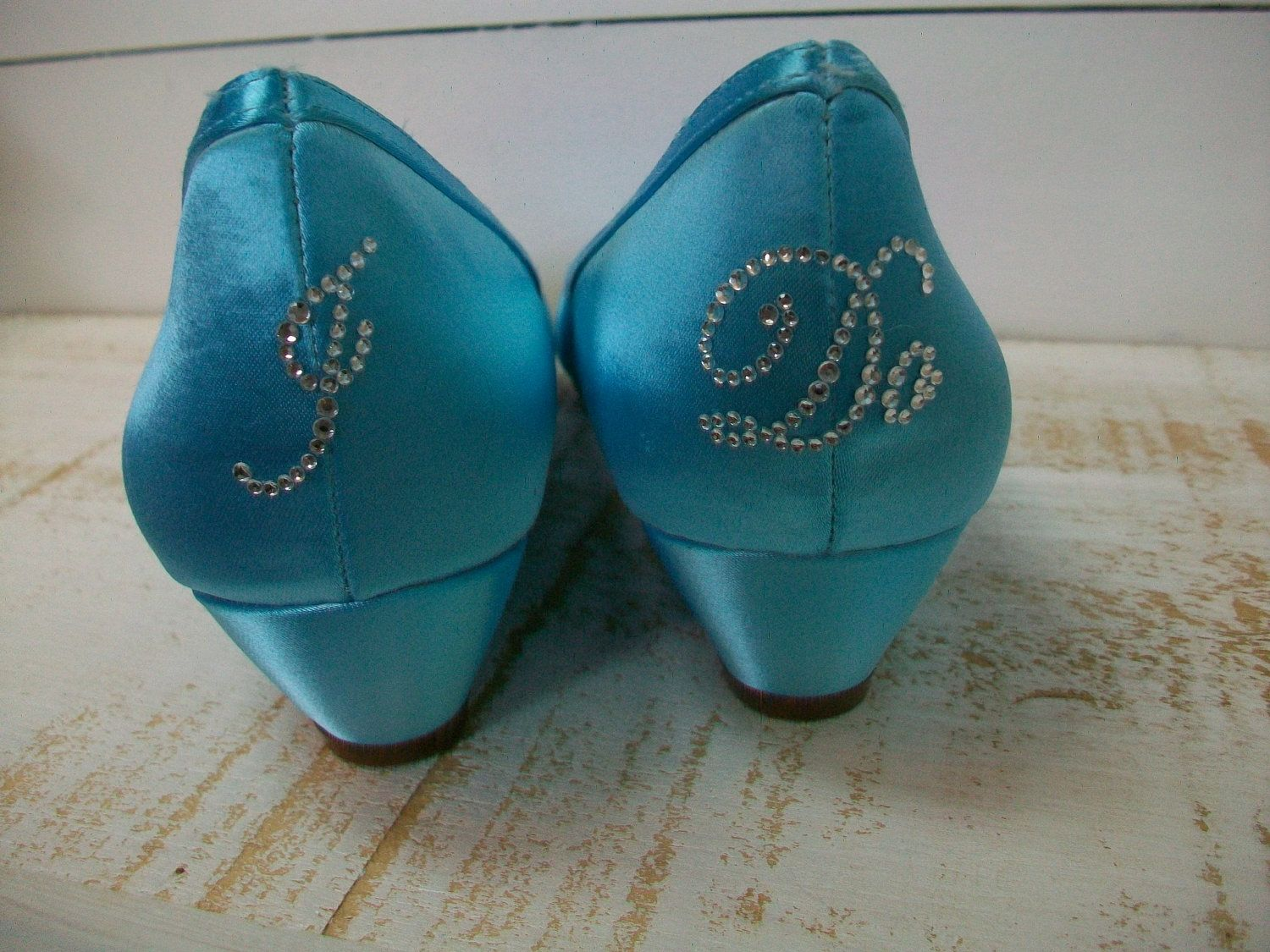 baby blue wedge wedding shoes wedding shoes wedges Handmade Wedding Shoes Blue