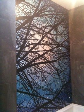 Custom Made Tree Silhouette Bath Mosaic