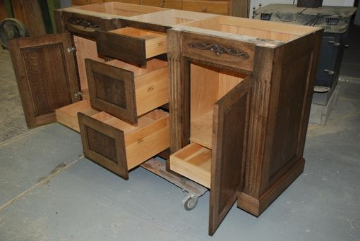 Custom Made Quarter Sawn Oak Vanity