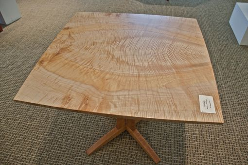 Custom Made Maple And Cherry Pedestal Breakfast Table