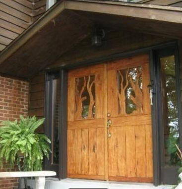 Custom Made Carved Walnut Front Doors, Dumfries, Va