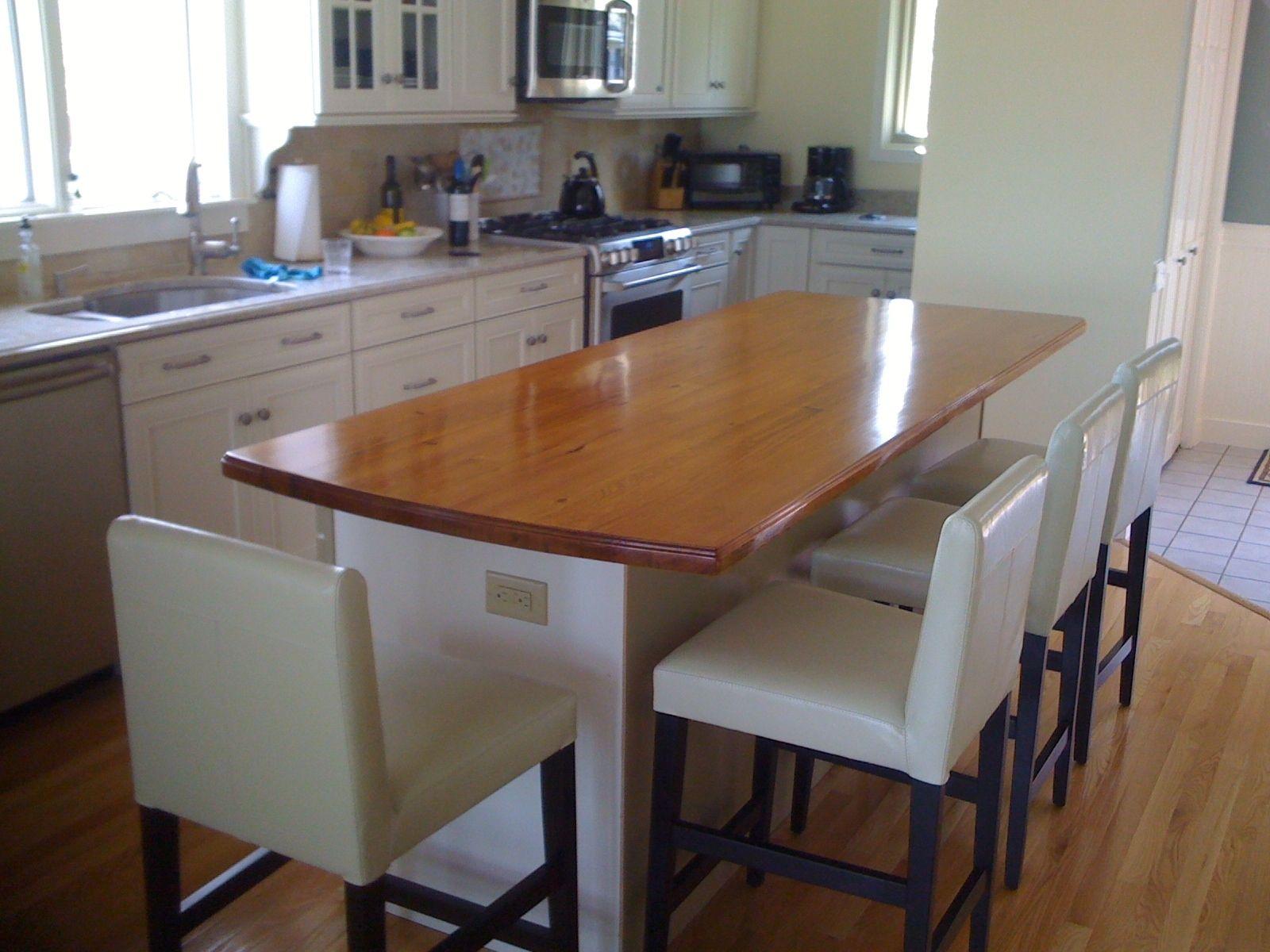 Custom Made Kitchen Island Reclaimed Wood Top