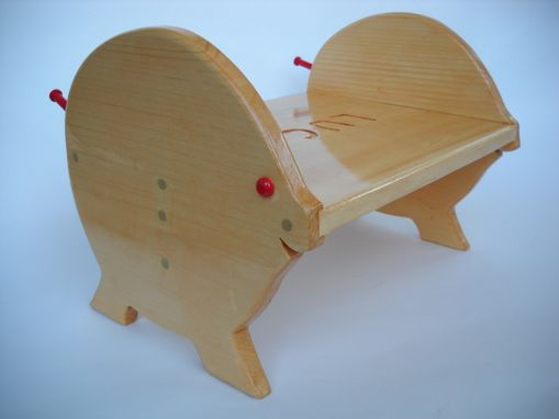 Custom Made Hard Wood Piggy Stool - Bench