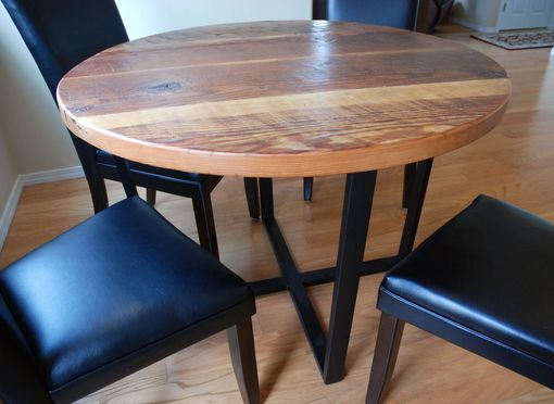 Custom Made Reclaimed Timber Round Dining Table