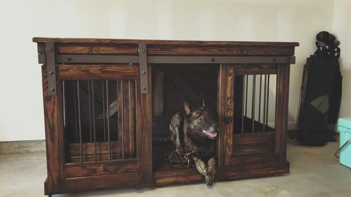 Custom Made Single Dog Crate Credenza