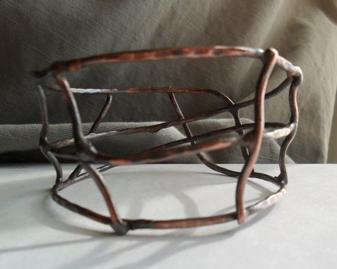 Custom Made Copper Wirework Cuff Bracelet