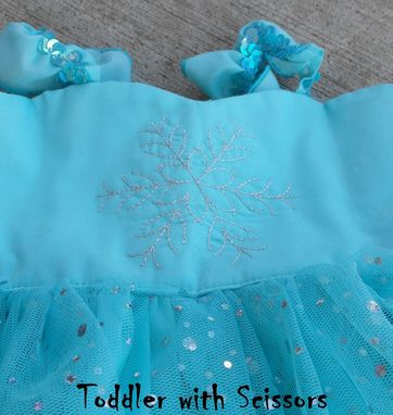 Custom Made Elsa-Inspired Playdate Princess Dress