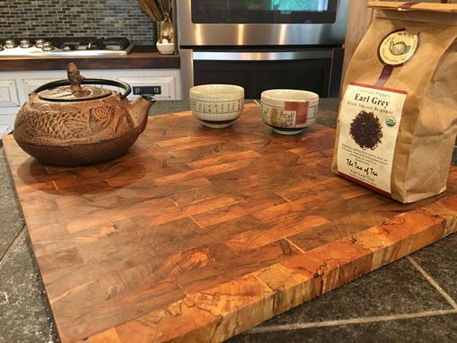 Custom Made Spalted Hard Maple End Grain Cutting Board