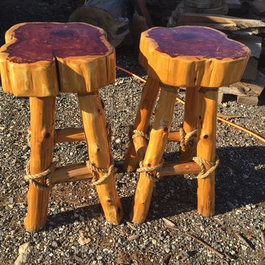 Custom Made Eastern Red Cedar Bar Stools