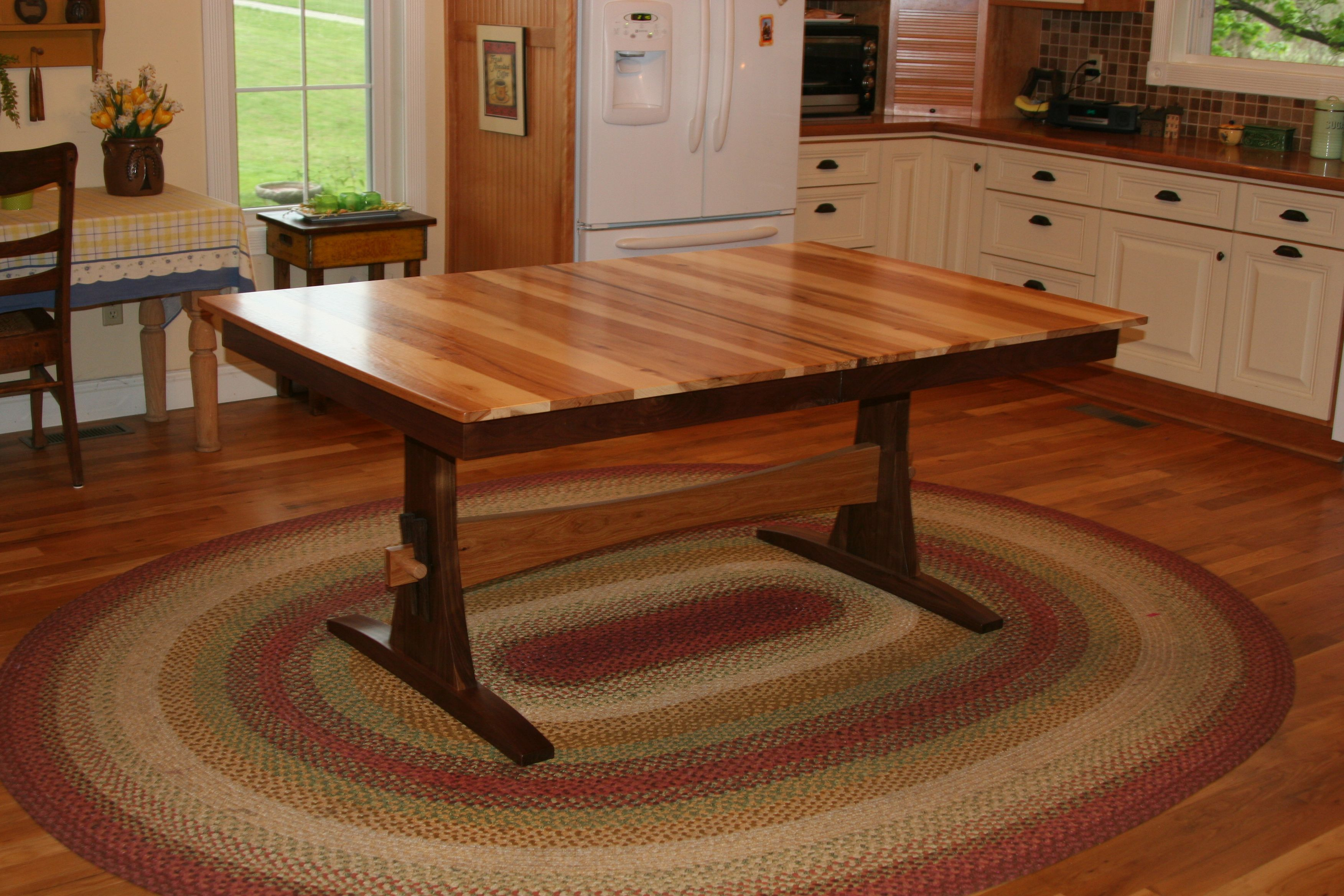 Buy a custom expanding farmhouse table trestle table for Solid wood farmhouse table