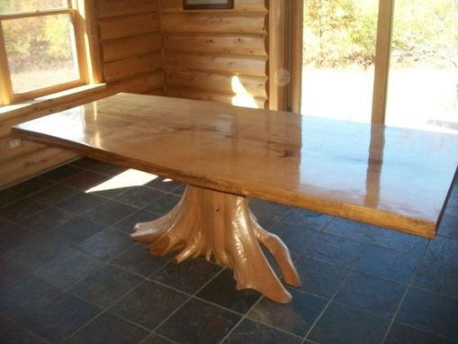 Custom Made Cedar Stump Base Table