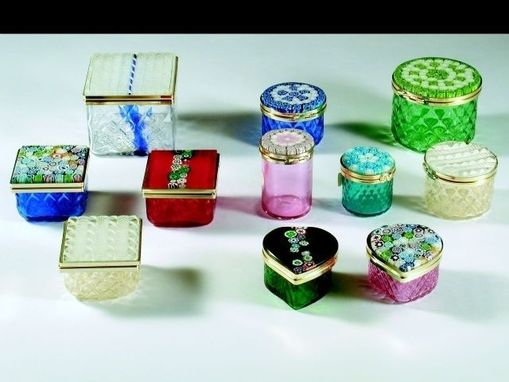 Custom Made Handblown Glass Jewelry Boxes