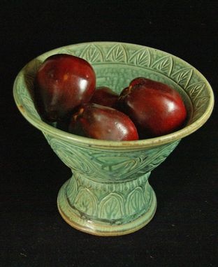 Custom Made Carved Medieval Fruit Bowl