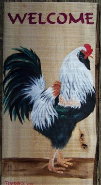 Custom Made Rustic Wood Farm Animal  Welcome Boards Painted To Order