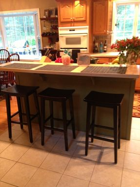 Custom Made Maple Butcher Block Breakfast Bar