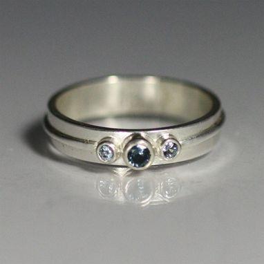 Custom Made 3 Stone Wrap Ring In Sterling Silver