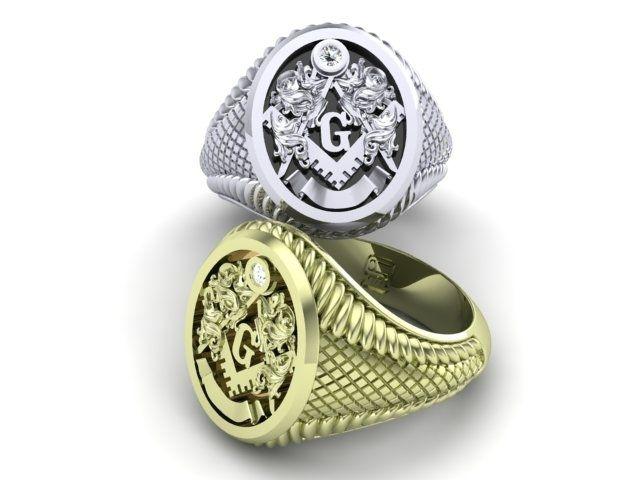 Handmade Freemason Ring