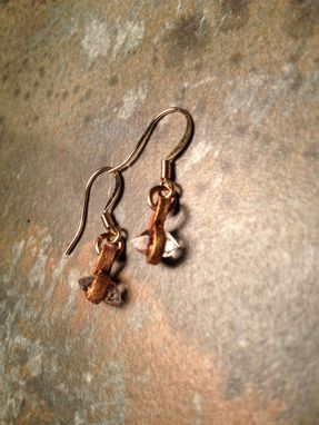 Custom Made Tiny Herkimer Diamond Earrings
