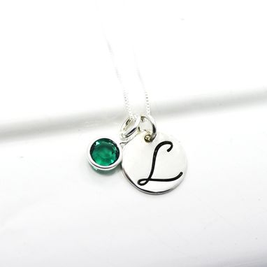 Custom Made Personalized Hand Stamped Initial Necklace | Sterling Silver Monogram Necklace