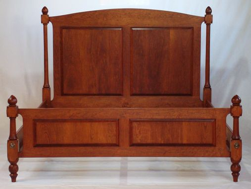 Custom Made Cherry Four Post Spindle Bed