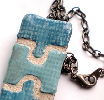 Custom Made Puzzle Piece  Reversible Jewelry