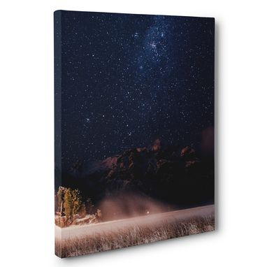 Custom Made Stars In The Patagonian Photography Canvas Wall Art