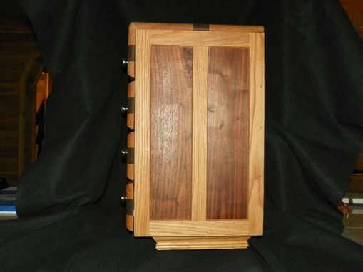 Custom Made Oak And Walnut Jewelry Chest