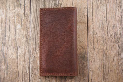 Custom Made Iphone 6 Kodiak Oil Tanned Cowhide Leather Wallet Sleeve, Free Ship In U.S.A. Handmade In The U.S.A.