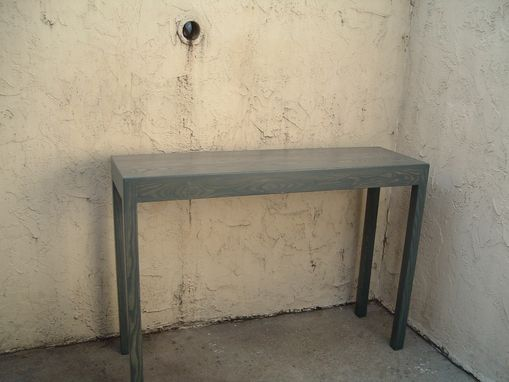 Custom Made Heather's Charcoal Gray Bar Height Parsons Table