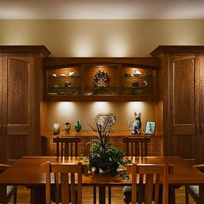 figured cherry dinning room cabinet - Dining Room Wall Cabinets