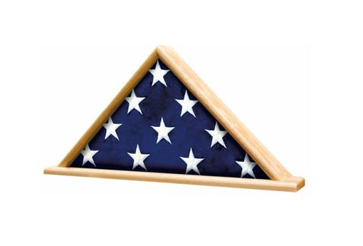Custom Made Memorial Flag Display Shadow Box