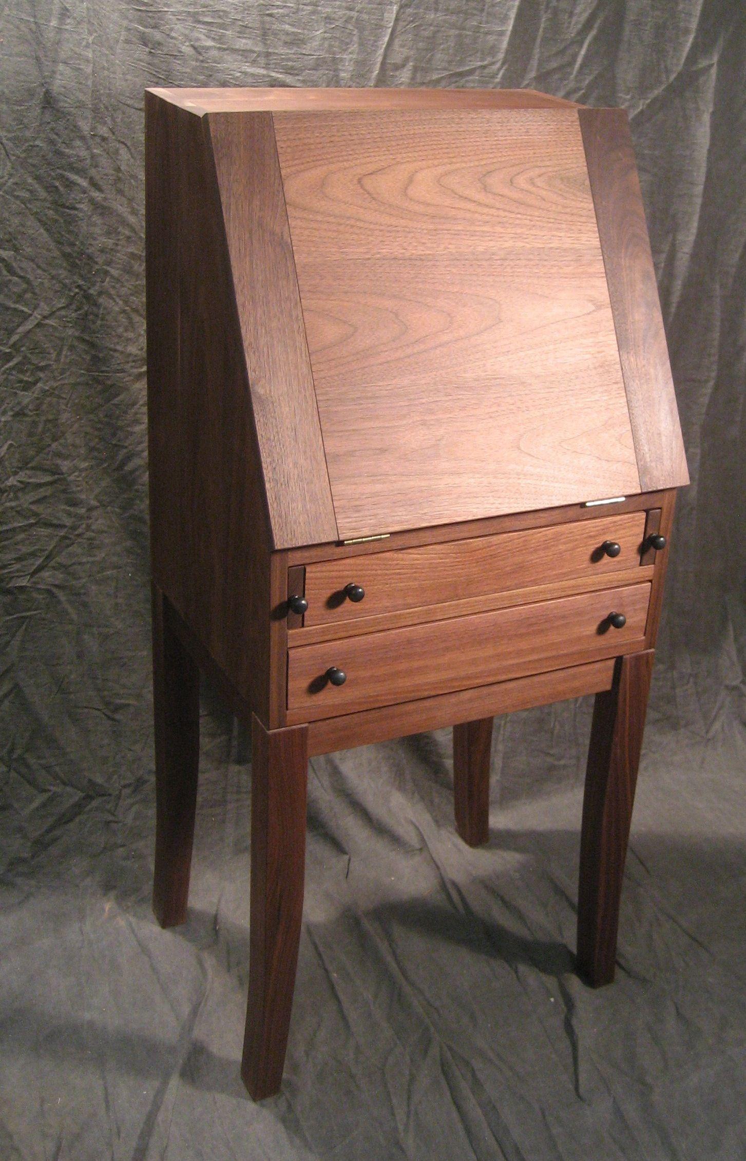 Custom Made Black Walnut Secretary Desk
