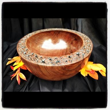 Custom Made Carved Rim Bowl