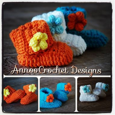 Custom Made Adorable Spring Baby Booties Pattern