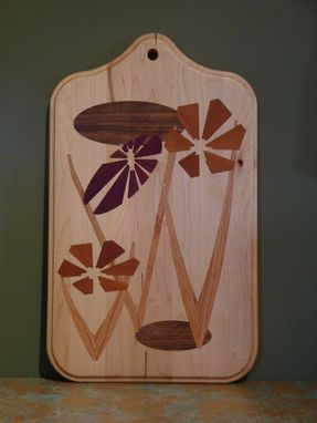 Custom Made Solid Wood Inlayed Cutting Boards, Slice And Dice On One Side, Clean And Hang #1
