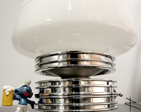 Custom Made Shroom Three Ring Aviation Piston Lamp In High Polish