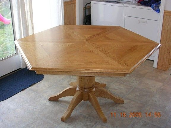 Handmade Sided Dining Table By Larue Woodworking CustomMadecom - Six sided table