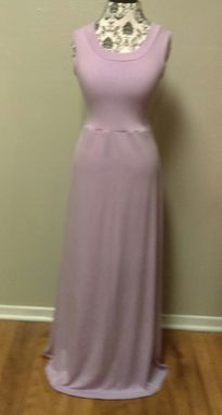 Custom Made Long Dress With Open Back Detail