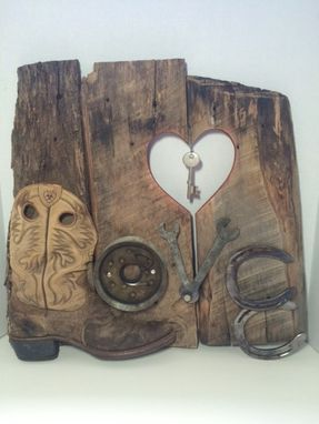 Custom Made Mixed Media Rustic Love