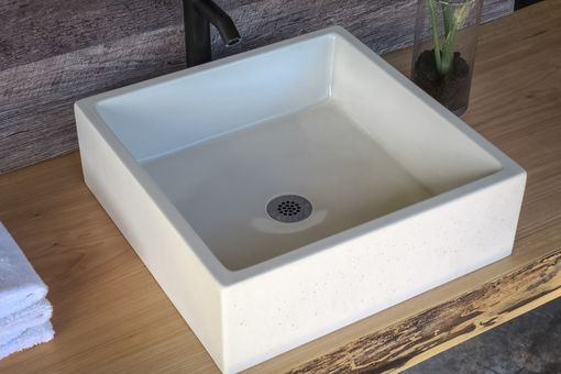 Custom Made Concrete Vessel Sink - Square