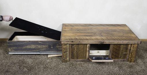 Hand Made Hidden Gun Barn Wood Coffee Table By Droptine