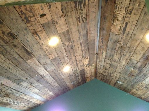 Custom Made Reclaimed Lumber Ceiling