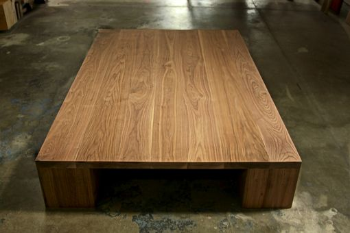Custom Made Solid Walnut Coffee Table