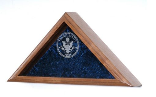 Custom Made Firefighter Burial Flag Case - Shadow Box For 5' X 9.5' Flag