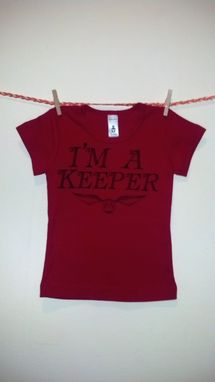 Custom Made Sale Harry Potter Inspired I'M A Keeper And Golden Snitch, Screen Printed Shirtsleeve Shirt
