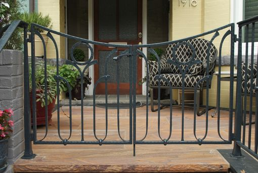 Custom Made Hand-Forged Porch Railing And Gate