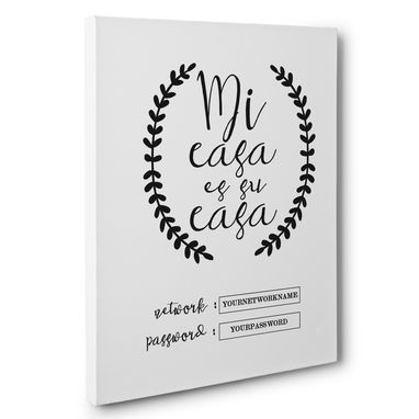 Custom Made Mi Casa Es Su Casa Wifi Password Canvas Wall Art