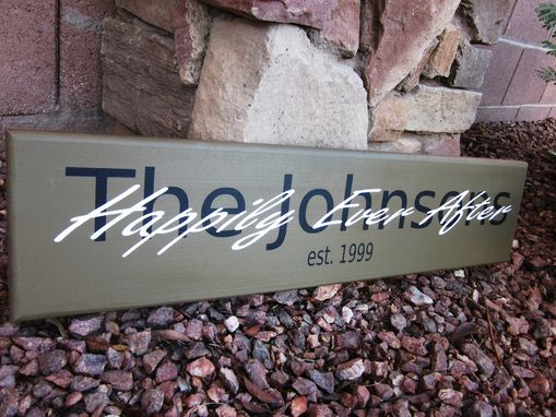 Custom Made Family Name Sign